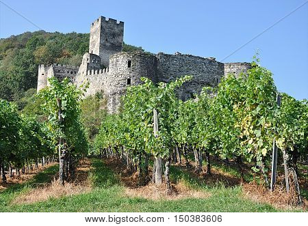 view of the ruins of the old, Wachau, Austria, Europe