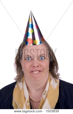 Woman In Party Hat