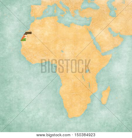 Map Of Africa - Western Sahara