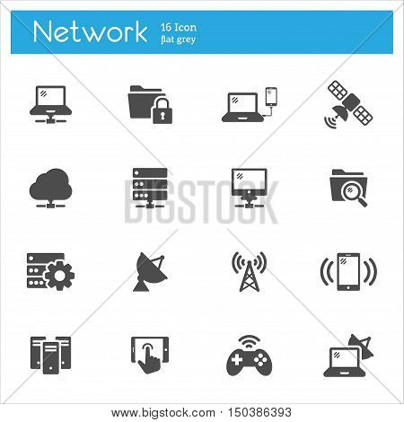 Network vector icon, connection icons, internet icons