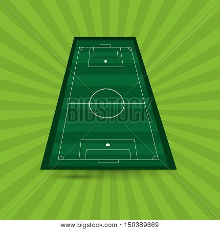 field of soccer football related icons image vector illustration design
