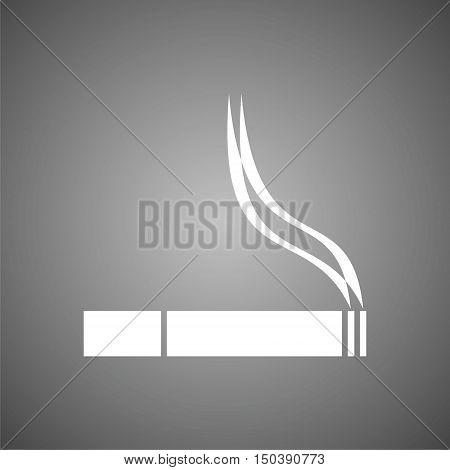 Smoking Icon, Smoke vector icon on gray background