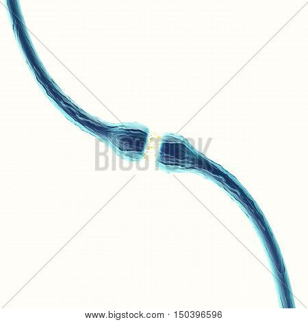 Illustration of an active receptor isolated on white background. 3d rendering.