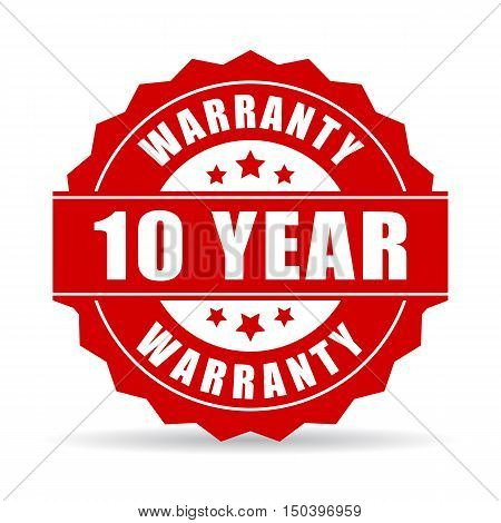 10 years warranty icon vector illustration isolated on white background