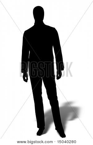 shape of businessman isolated on white