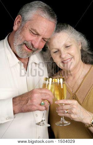 Mature Couple Champagne Toast