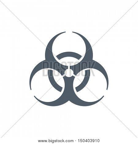 Biohazard icon illustration on a white background