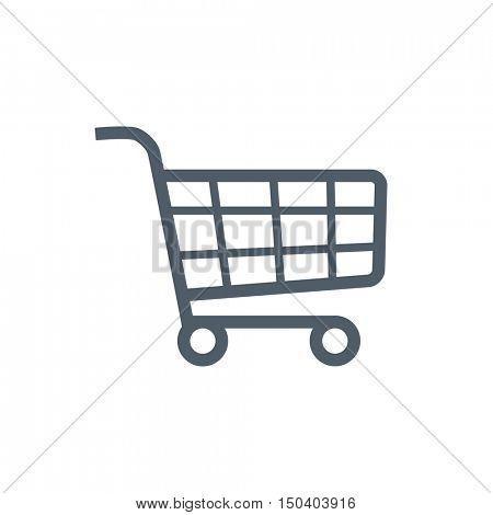 Shopping cart checkout icon illustration