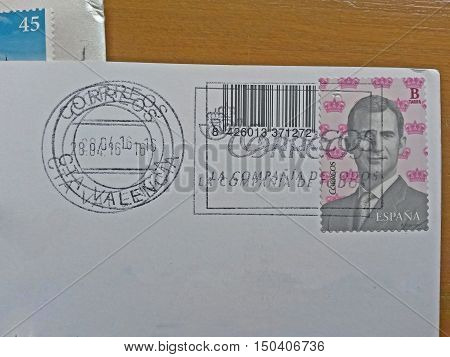 Spanish Stamp With King Felipe Vi