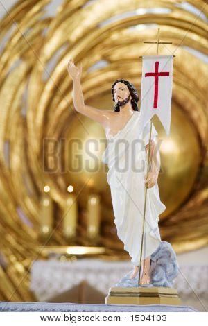 Jesus Christ Sculpture In Catholic Church