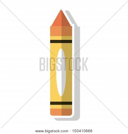 Crayon object icon. School supply tool instrument and education theme. Isolated design. Vector illustration