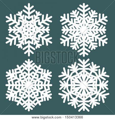 Decorative snowflakes. Vector illustration