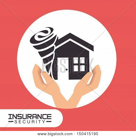 house twister insurance security and property home safety. vector illustration