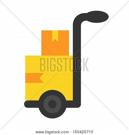 Cargo flat icon. Illustration for web and mobile.