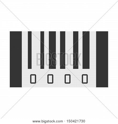Barcode flat icon. Illustration for web and mobile.