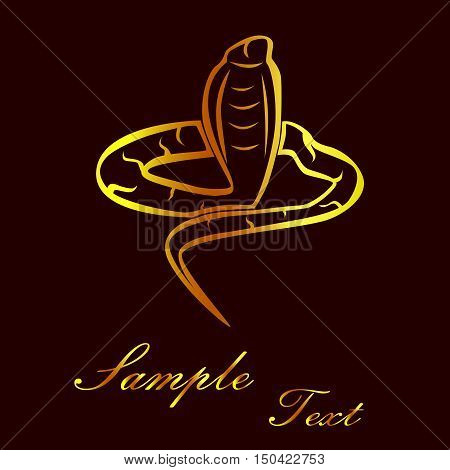 the illustration - the silhouette of a snake.