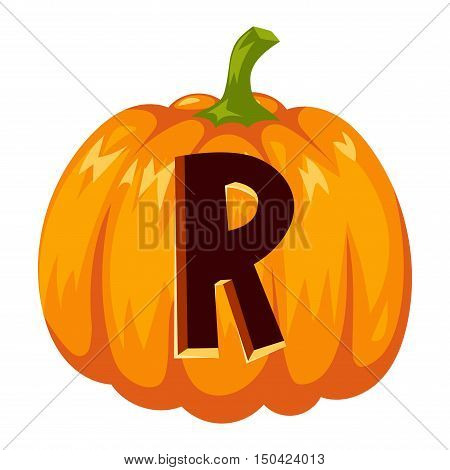 Spooky halloween font alphabet magical pumpkin letter. Halloween font alphabet typography text spooky vegetable. Horror art graphic isolated grunge typography halloween font alphabet letter.