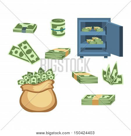 Money symbols and coin icons vector set. Concept icons for finance, banking, payment. Currency money symbols online commerce. Money symbols icons isolated finance