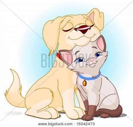 Cute Dog and Cat Best Friends Ever