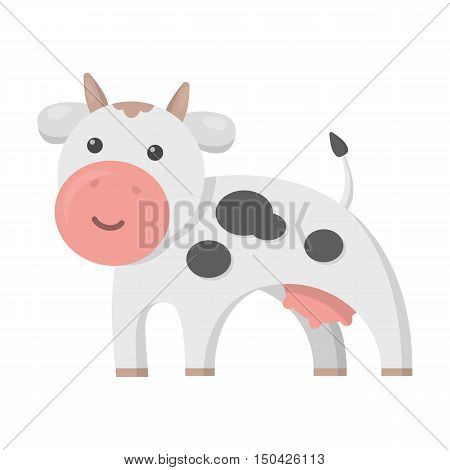 Cow cartoon icon. Illustration for web and mobile.