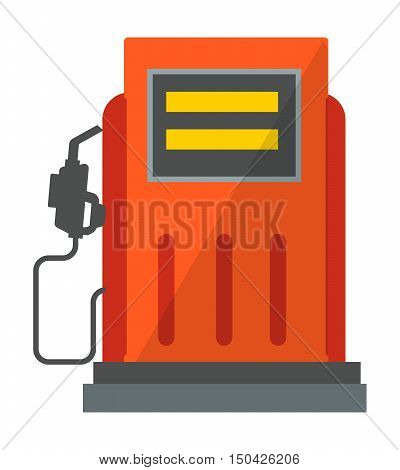Gas oil station icon energy service isolated. Petrol diesel gasoline pump vector gas oil station icon.