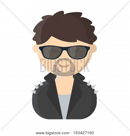 Rock star cartoon icon. Illustration for web and mobile.