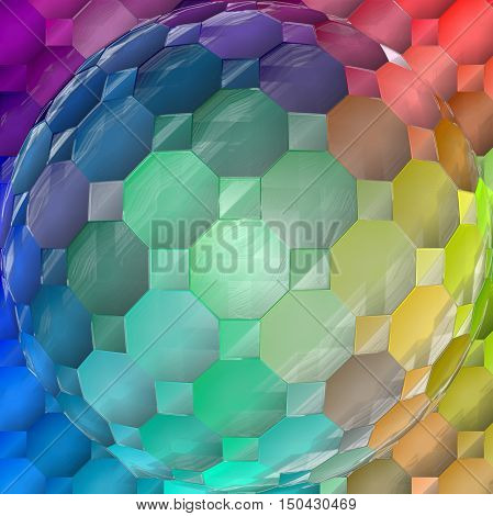 Abstract coloring background of the spectrums gradient with visual lighting,spherise,mosaic,plastic wrap and twirl effects.Good for your project design