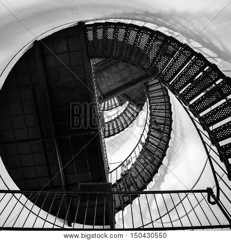 spiral stair to the top of hunting island lighthouse
