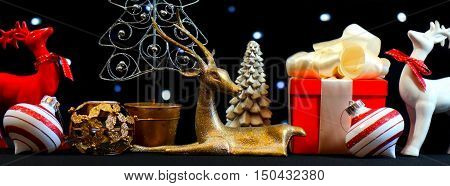 Festive Holiday Christmas Table Centerpiece