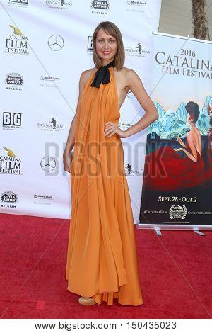 LOS ANGELES - OCT 1:  Elena Aksenova at the Catalina Film Festival - Saturday at the Casino on October 1, 2016 in Avalon, Catalina Island, CA