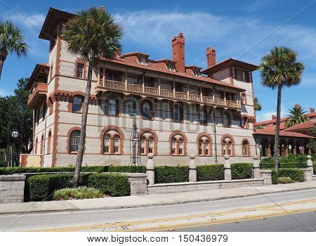 exterior of a building at Flagler College in St. Augustine Florida
