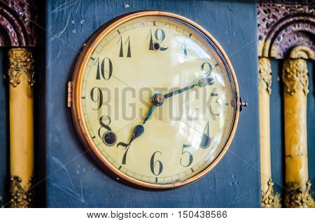 a very old vintage classic sheld clock