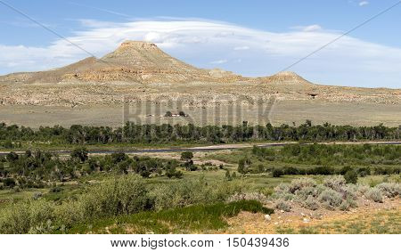 Clouds Pass Over Wind River and Native American Land Wyoming