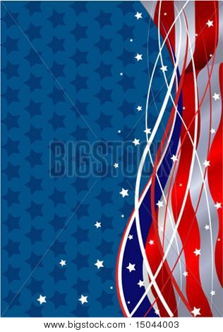 Stars and Stripes Fourth of July Patriotic Background