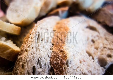 An assortment of many freshly baked breads