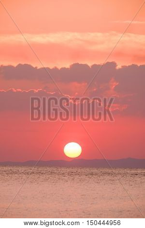Scenic view of beautiful sunset over the sea