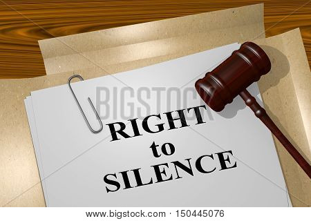 Right To Silence Concept