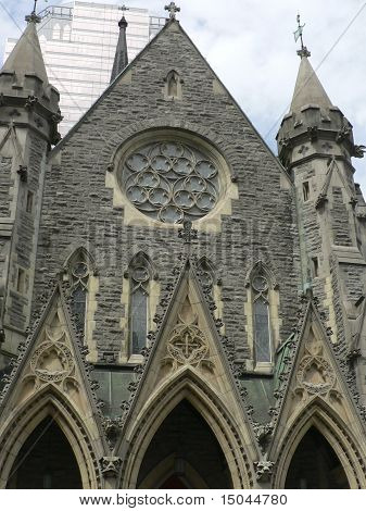 Notre Dame Cathedral Front in Montreal