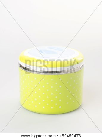 Food Container Tiffin Or Lunchbox On Background.