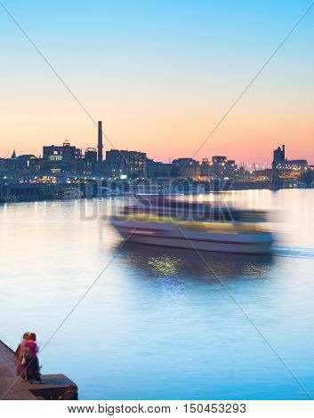 River Ship Motion Blur