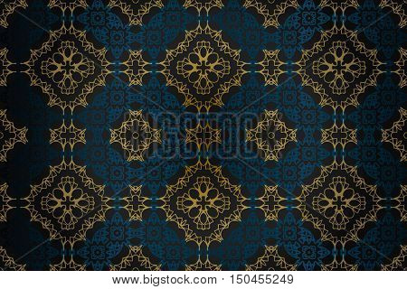Seamless pattern in rococo style, victorian , in renaissance , in baroque