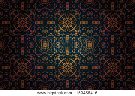 pattern in rococo style, victorian style, in renaissance style, in baroque style. Vector illustration.