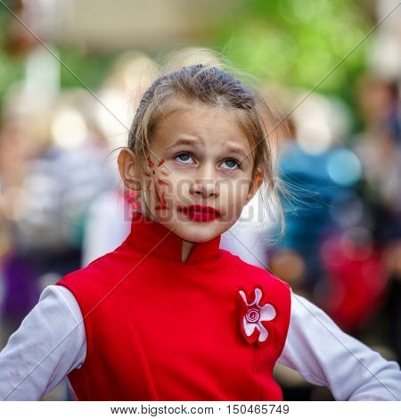 Editorial, 02Nd October 2016: Barr, France: Carnival And Parade Throught The Streets. Fancy-dress Ha