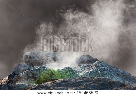 A fumarole on the of Mt. Namafjall in Northeastern Iceland
