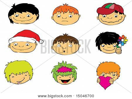 Expressions Of Boy's Face