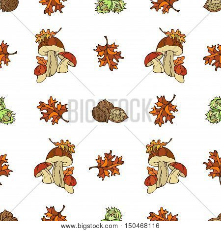 Vector Seamless Autumn Pattern.