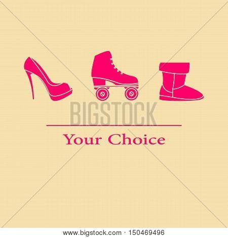 Vector illustration set your choice of footwear