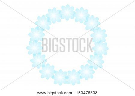 Flowers Frame. Circular Floral Wreaths For Your Text.