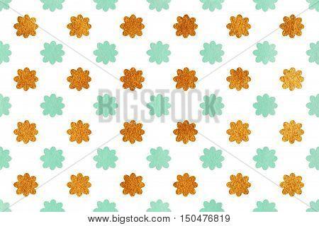 Watercolor Flowers Pattern.