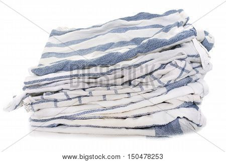 dish towel in front of white background